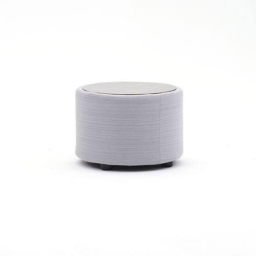 table basse contemporaine / en HPL / en tissu / ronde