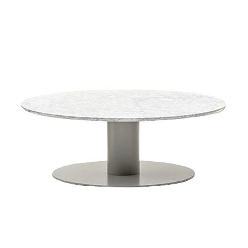 table basse contemporaine / en métal / en HPL / ronde