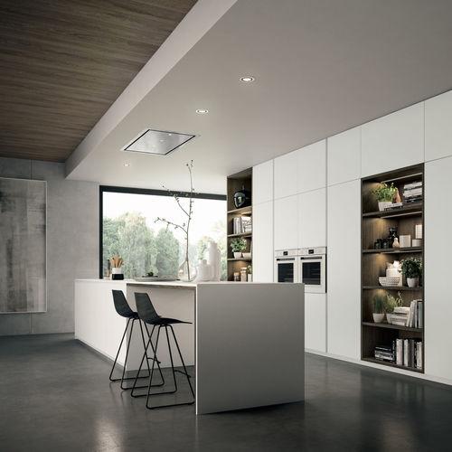 cuisine contemporaine / en stratifié / avec îlot / laquée