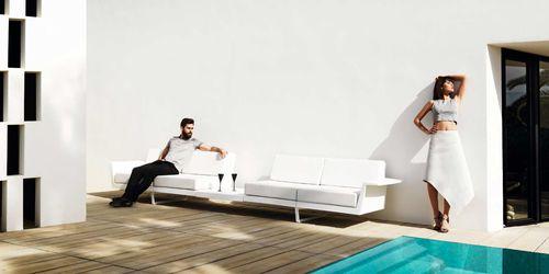 Canapé modulable / d'angle / contemporain / de jardin DELTA by Jorge Pensi VONDOM