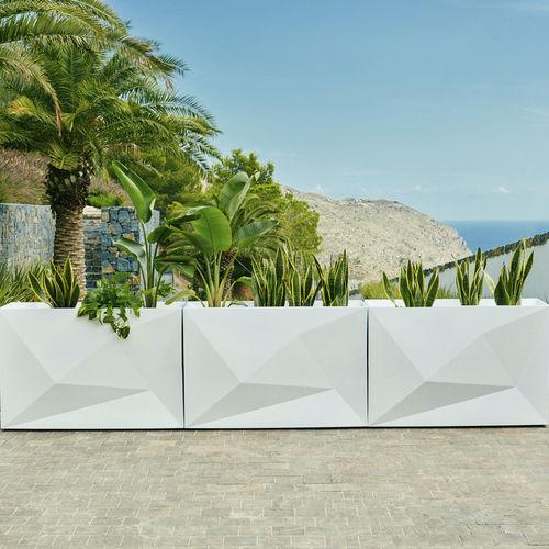 jardinière en polyéthylène / rectangulaire / contemporaine