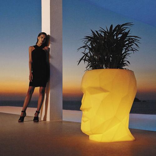 pot de jardin en polyéthylène / lumineux