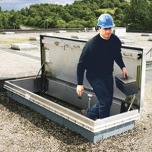 Trappe de visite de toit / rectangulaire / avec échelle / en aluminium L-50TB Bilco UK