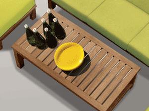 Table salon de jardin en teck - Mailleraye.fr jardin