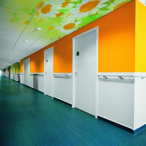 Faux-plafond en laine minérale / en dalles / acoustique / décoratif DESIGN : THERMATEX® VARIOLINE MOTIF Knauf AMF