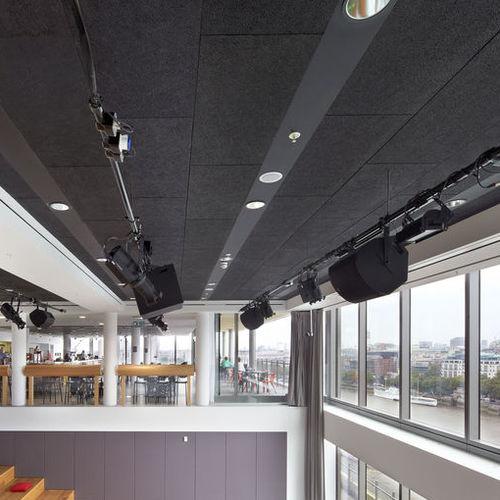 Panneau acoustique pour faux-plafond / pour mur intérieur / en laine de bois / coloré HERADESIGN® FINE Knauf AMF