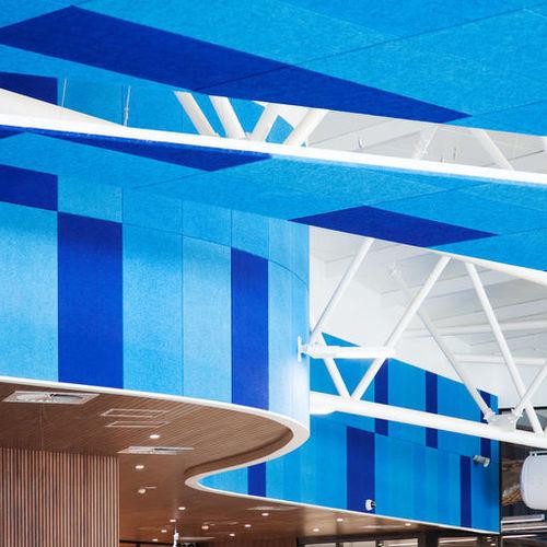 Panneau acoustique pour faux-plafond / pour mur intérieur / en laine de bois / coloré HERADESIGN® SUPERFINE Knauf AMF