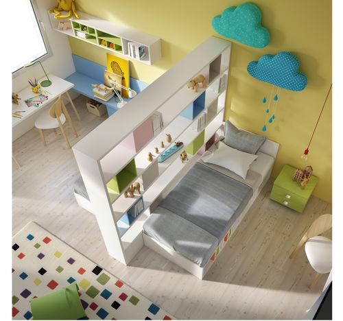 chambre d'enfant jaune / en bois laqué / mixte