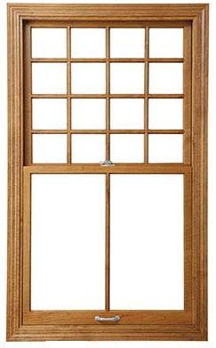 fenêtre à guillotine / en pin / en acajou / en aulne