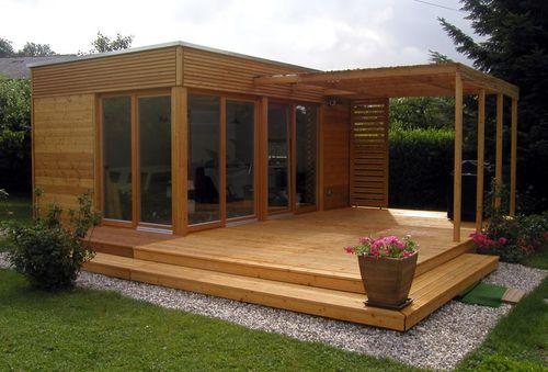 maison modulaire / individuelle / contemporaine / en bois massif