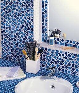 Mosaïque d\'intérieur / de salle de bain / murale / en céramique ...