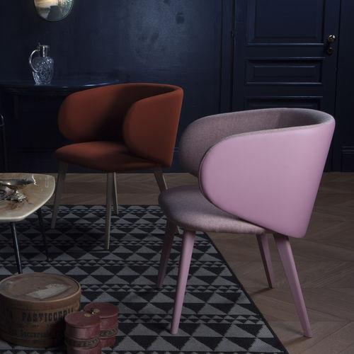 fauteuil en tissu / en cuir / en bois / bridge