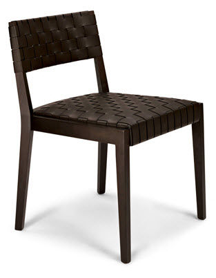 Chaise contemporaine / en bois / tapissée / professionnelle POURPARLER : 164 by Claudio Perin TEKHNE S.r.l.