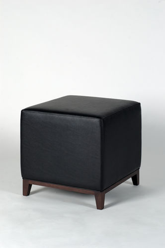 pouf contemporain / en cuir / carré
