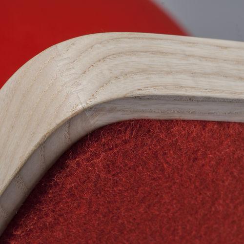 Chaise de bar contemporaine / tapissée / en tissu / en bois TIPTAP : 383 by Claudio Perin TEKHNE S.r.l.