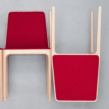 Chaise contemporaine / tapissée / en tissu / en bois TIPTAP : 380 by Claudio Perin TEKHNE S.r.l.