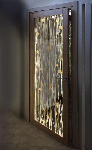 porte d'intérieur / battante / en acrylique / pour chambre d'hôtel