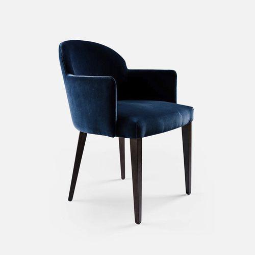 chaise de restaurant contemporaine / tapissée / avec accoudoirs / en tissu