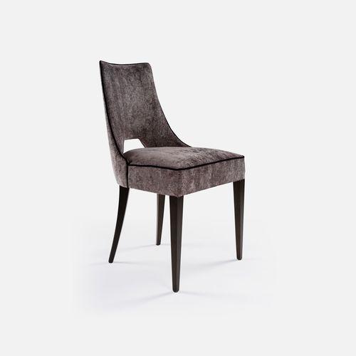 chaise de restaurant contemporaine / tapissée / en tissu / en hêtre