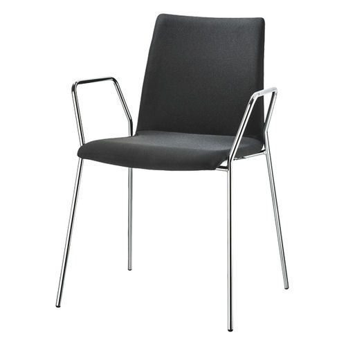 Chaise visiteur contemporaine / tapissée / avec accoudoirs / empilable VARIUS by Prof. Matthias Rexforth BRUNE Sitzmöbel GmbH