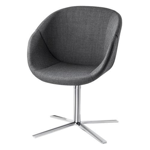 fauteuil visiteur contemporain / en chrome / piètement étoile