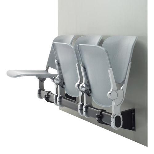 Sièges sur poutre en acier / 3 places HOLIDAY1 LOCHBLECH BRUNE Sitzmöbel GmbH