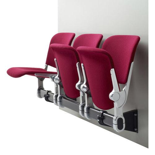 sièges sur poutre en acier / 4 places