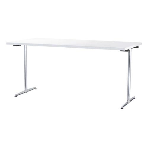 Table de travail contemporaine / en acier / rectangulaire / pour établissement public 4100 by delphin design BRUNE Sitzmöbel GmbH
