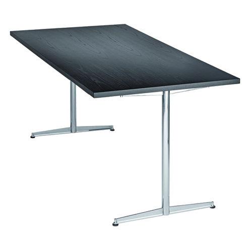 Table contemporaine / en acier / rectangulaire / pour établissement public 4110 by Delphin Design BRUNE Sitzmöbel GmbH