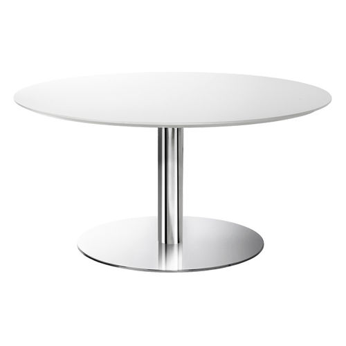 Table bistrot contemporaine / en acier chromé / en métal chromé / ronde 4340 ORBIT BRUNE Sitzmöbel GmbH
