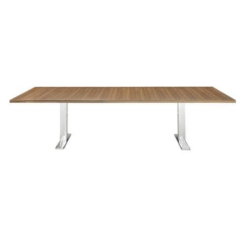 table de conférence contemporaine / en bois / en HPL / en acier