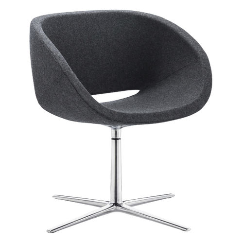 fauteuil visiteur contemporain / en tissu / pivotant / piètement étoile
