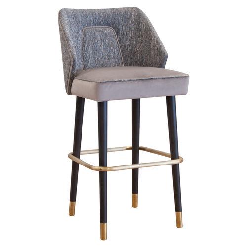 chaise de bar contemporaine / tapissée / avec repose-pieds / écolabel FSC