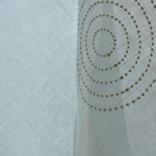 tissu pour rideaux / motif géométrique / en lin