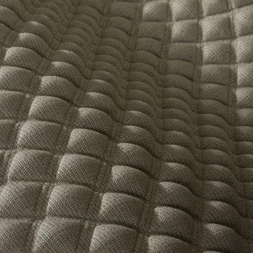 tissu d'ameublement / motif géométrique / en polyester / en lin