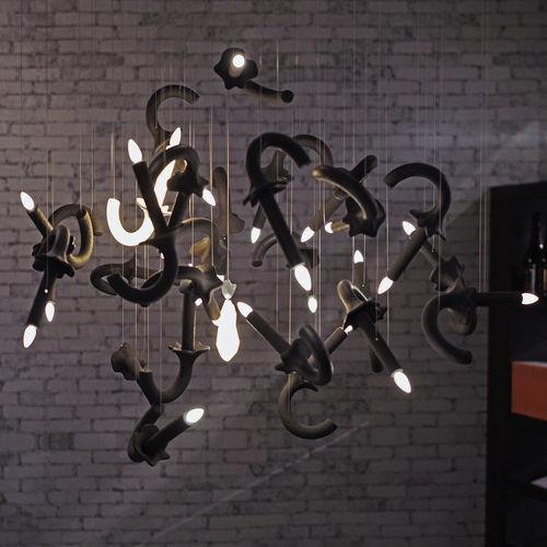 lustre sur mesure / design original / en porcelaine / à LED