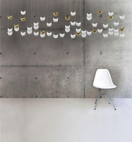lustre contemporain / en porcelaine de Limoges / à LED / fait main