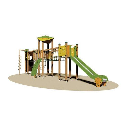 structure de jeu pour aire de jeux / en bois