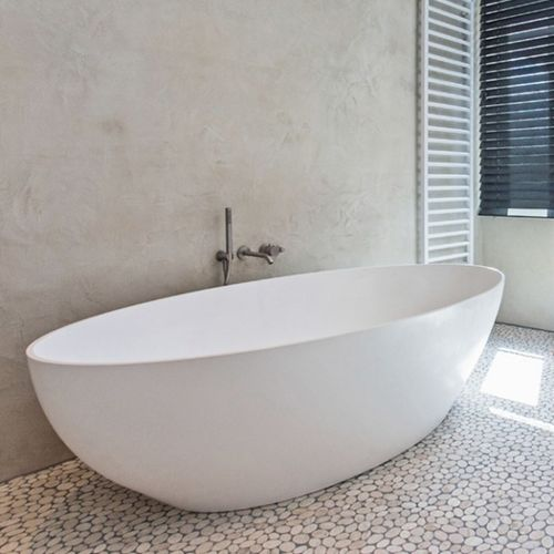 baignoire en îlot / ovale / en Solid Surface / double