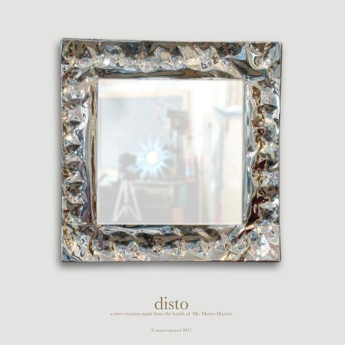 Miroir mural / contemporain / carré / en métal DISTO marco mazzei