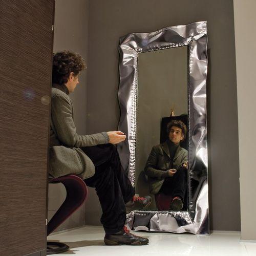 Miroir mural / contemporain / rectangulaire / en métal CARTA CM. 195 X 95 marco mazzei