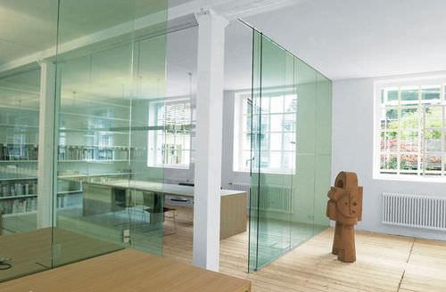 Cloison coulissante / en aluminium / vitrée / de bureau GM TOPROLL SMART Glas Marte GmbH