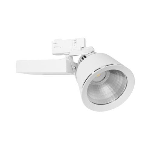éclairage sur rail à LED / rond / en fonte d'aluminium / en tôle d'acier