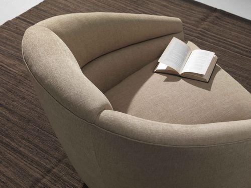 Fauteuil contemporain / en textile / pivotant / beige MOVIE Divani Santambrogio