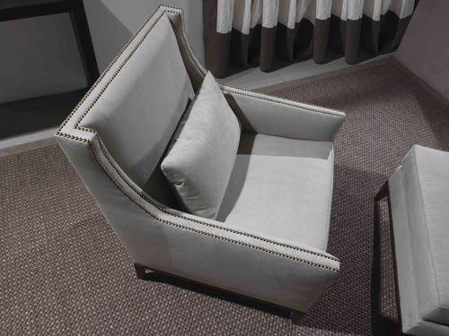 Fauteuil contemporain / en cuir / gris SEAN Divani Santambrogio