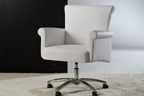 fauteuil de bureau contemporain / en tissu / pivotant / à roulettes