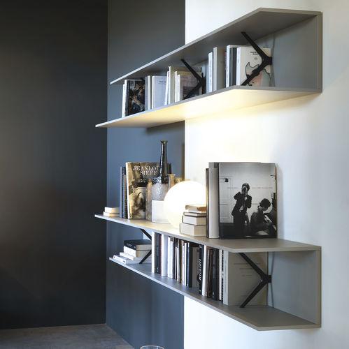 étagère murale / contemporaine / en chêne / en aluminium