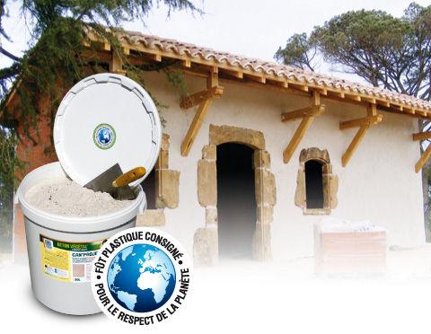 Enduit isolant / pour mur / à base de chaux / à base de chanvre CAN'PROJET ® BETON VEGETAL