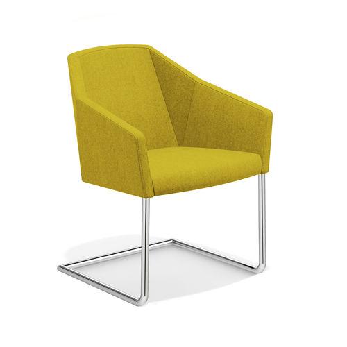 chaise visiteur contemporaine / avec accoudoirs / cantilever / luge