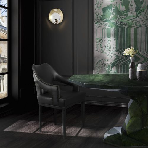 applique murale contemporaine / en laiton / en marbre / à LED
